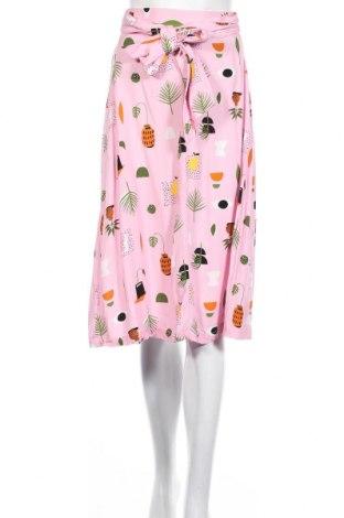 Пола Monki, Размер XS, Цвят Розов, 100% вискоза, Цена 27,00лв.