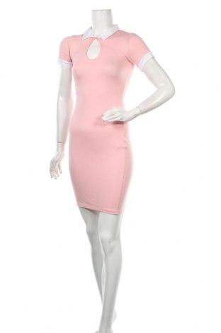 Рокля Victoria Moda, Размер S, Цвят Розов, 95% памук, 5% еластан, Цена 11,00лв.