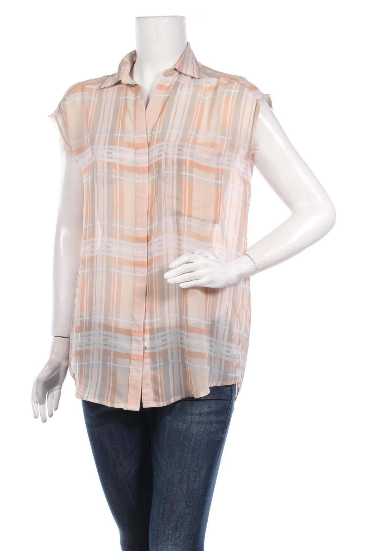 Дамска риза Mango, Размер S, Цвят Многоцветен, Полиестер, Цена 21,34лв.
