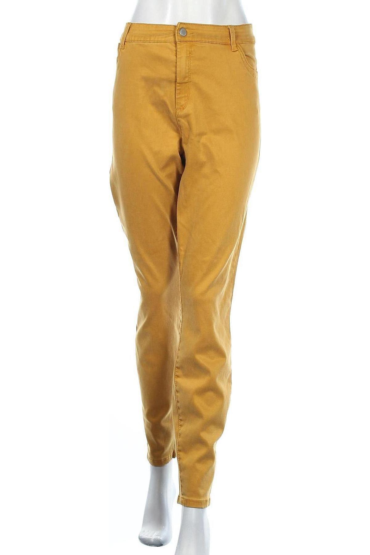 Дамски дънки Yessica, Размер XXL, Цвят Жълт, 67% лиосел, 23% памук, 8% други тъкани, 2% еластан, Цена 39,00лв.