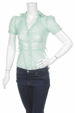 Γυναικείο πουκάμισο H&M, Μέγεθος XS, Χρώμα Πράσινο, 100% βαμβάκι, Τιμή 9,28€