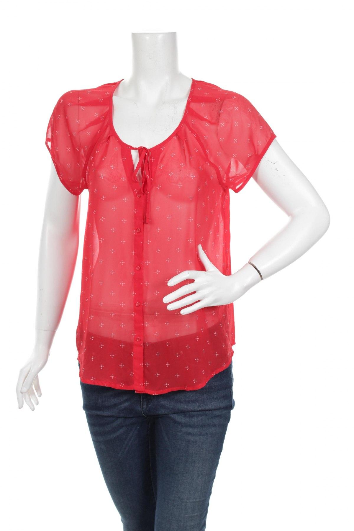 Γυναικείο πουκάμισο Old Navy, Μέγεθος M, Χρώμα Κόκκινο, 100% πολυεστέρας, Τιμή 9,28€
