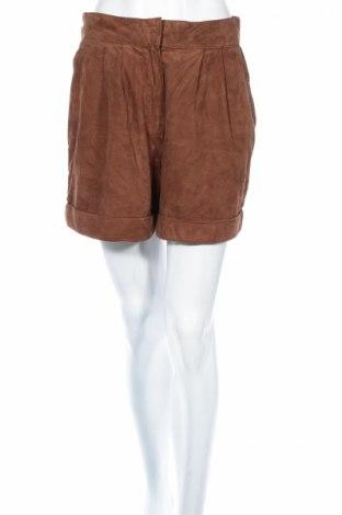 Дамски къс кожен панталон Mango