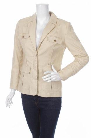 Дамско сако H&M, Размер S, Цвят Бежов, 98% памук, 2% еластан, Цена 5,60лв.
