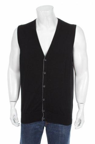 Мъжка жилетка Watson's, Размер M, Цвят Черен, 80% памук, 17% полиамид, 3% еластан, Цена 8,00лв.