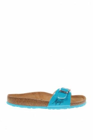 Papuci de casă Aquaziac, Mărime 38, Culoare Albastru, Piele ecologică, Preț 96,30 Lei