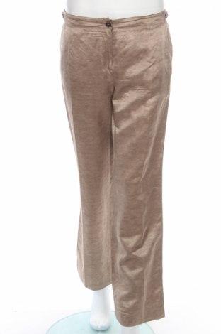 Дамски панталон Gerard Darel, Размер M, Цвят Бежов, 45% вискоза, 33% лен, 22% памук, Цена 17,34лв.