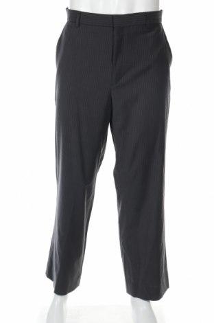 Мъжки панталон Calvin Klein, Размер L, Цвят Сив, 54% вълна, 44% полиестер, Цена 9,36лв.