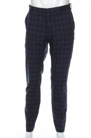 Мъжки панталон Selected Homme, Размер L, Цвят Син, 63% полиестер, 35% вискоза, 2% еластан, Цена 89,25лв.