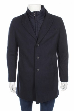 Ανδρικά παλτό Angelo Litrico, Μέγεθος M, Χρώμα Μπλέ, 50% μαλλί, 50% πολυεστέρας, Τιμή 42,22€