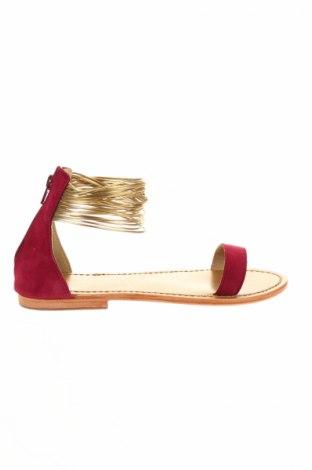 Sandále Calank, Veľkosť 38, Farba Ružová, Prírodný velur , Eko koža , Cena  24,32€