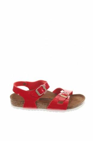 Σανδάλια Birkenstock, Μέγεθος 33, Χρώμα Κόκκινο, Δερματίνη, Τιμή 34,41€