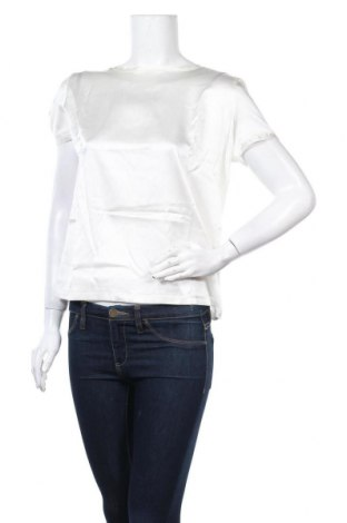 Γυναικεία μπλούζα Patrizia Pepe, Μέγεθος L, Χρώμα Εκρού, Μετάξι, βισκόζη, ελαστάνη, Τιμή 44,78€