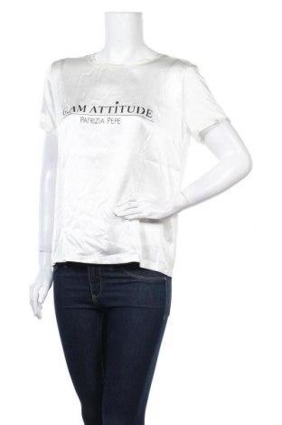 Γυναικεία μπλούζα Patrizia Pepe, Μέγεθος M, Χρώμα Λευκό, 97% μετάξι, 3% ελαστάνη, Τιμή 45,21€