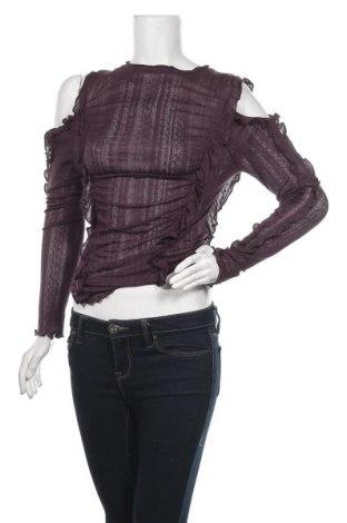 Γυναικεία μπλούζα Patrizia Pepe, Μέγεθος M, Χρώμα Βιολετί, Βαμβάκι, Τιμή 33,40€