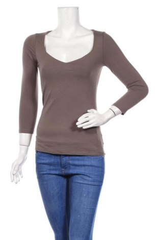 Γυναικεία μπλούζα Zebra, Μέγεθος S, Χρώμα Καφέ, 95% βαμβάκι, 5% ελαστάνη, Τιμή 6,36€