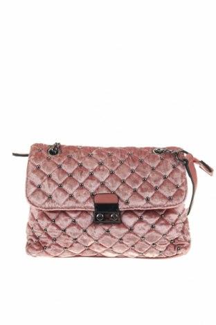 Дамска чанта, Цвят Розов, Текстил, еко кожа, Цена 27,93лв.