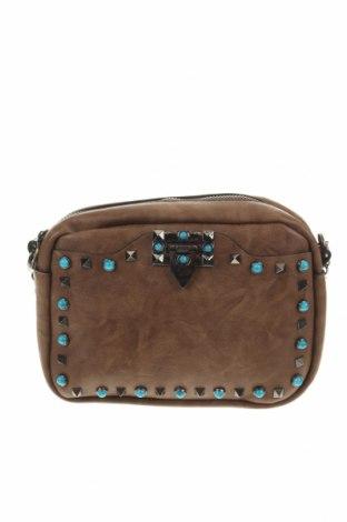Дамска чанта, Цвят Кафяв, Еко кожа, Цена 22,68лв.