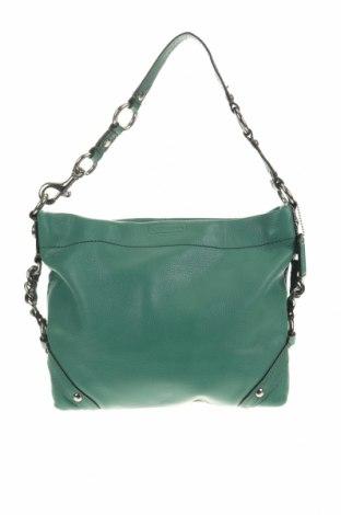 Дамска чанта Coach, Цвят Зелен, Естествена кожа, Цена 100,17лв.