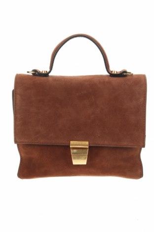 Дамска чанта Coccinelle, Цвят Кафяв, Естествен велур, Цена 291,04лв.