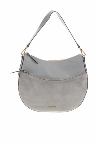 Дамска чанта Coccinelle, Цвят Сив, Естествена кожа, естествен велур, Цена 358,36лв.