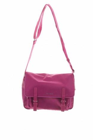 Дамска чанта Coccinelle, Цвят Лилав, Текстил, естествена кожа, Цена 328,44лв.