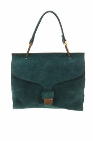 Дамска чанта Coccinelle, Цвят Зелен, Естествен велур, Цена 358,36лв.