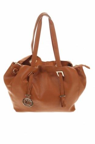 Дамска чанта Manoukian, Цвят Кафяв, Еко кожа, Цена 119,00лв.