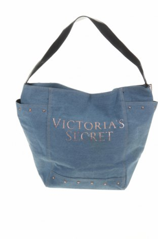 Дамска чанта Victoria's Secret, Цвят Син, Текстил, Цена 39,69лв.