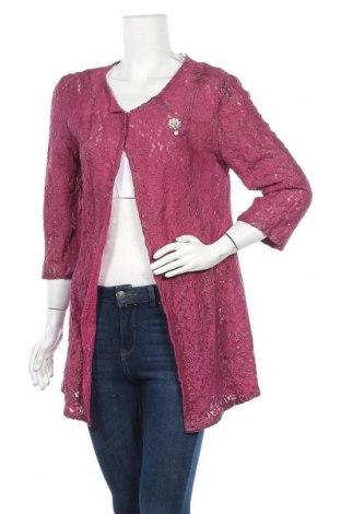 Дамска жилетка, Размер M, Цвят Розов, 85% полиестер, 10% памук, 5% еластан, Цена 7,59лв.