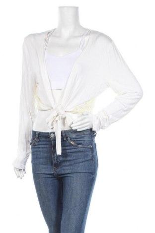 Γυναικεία ζακέτα Laura Torelli, Μέγεθος M, Χρώμα Λευκό, 95% βισκόζη, 5% ελαστάνη, Τιμή 4,05€