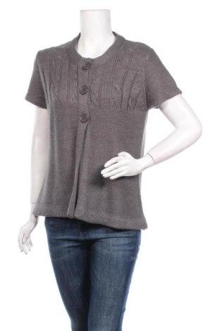 Γυναικεία ζακέτα Michele Boyard, Μέγεθος L, Χρώμα Γκρί, Πολυακρυλικό, Τιμή 5,23€