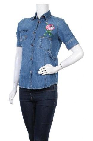 Γυναικείο πουκάμισο Love Moschino, Μέγεθος M, Χρώμα Μπλέ, 100% βαμβάκι, Τιμή 111,81€