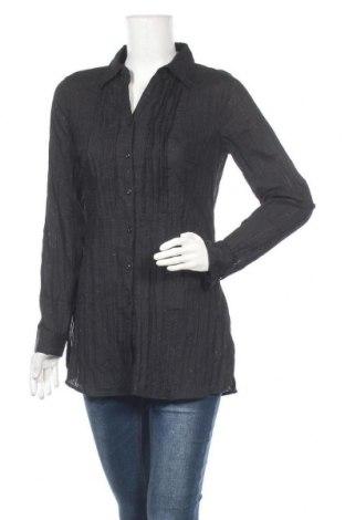 Дамска риза Michele Boyard, Размер M, Цвят Черен, 55% памук, 45% полиестер, Цена 10,71лв.