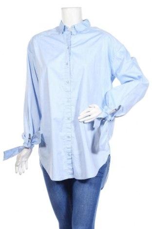 Дамска риза Monki, Размер S, Цвят Син, Памук, Цена 15,96лв.