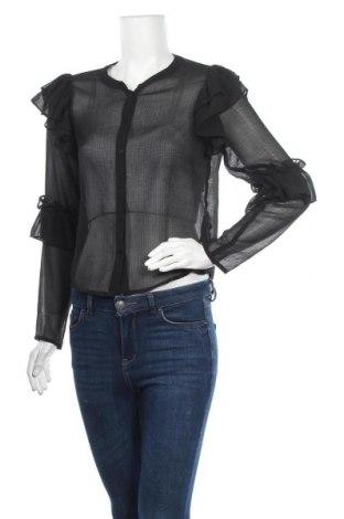 Дамска риза Monki, Размер XS, Цвят Черен, Полиестер, Цена 18,95лв.
