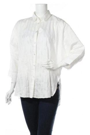 Γυναικείο πουκάμισο Sisley, Μέγεθος M, Χρώμα Λευκό, 62% βαμβάκι, 33% πολυαμίδη, 5% ελαστάνη, Τιμή 11,21€