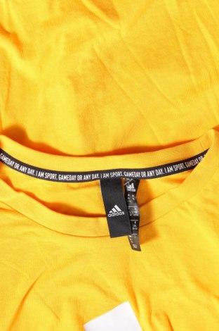 Γυναικείο t-shirt Adidas, Μέγεθος XXL, Χρώμα Κίτρινο, Βαμβάκι, Τιμή 23,97€