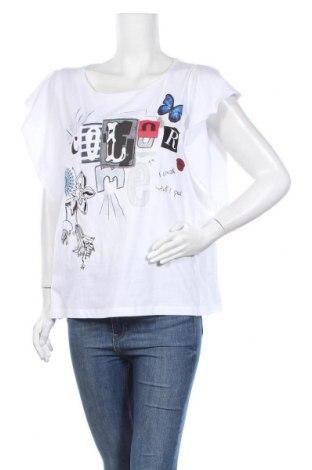 Дамска тениска Desigual, Размер M, Цвят Бял, Памук, Цена 39,06лв.