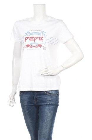Дамска тениска Pepe Jeans, Размер M, Цвят Бял, Памук, Цена 43,47лв.