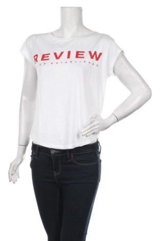 Дамска тениска Review, Размер S, Цвят Бял, 50% памук, 50% модал, Цена 22,10лв.