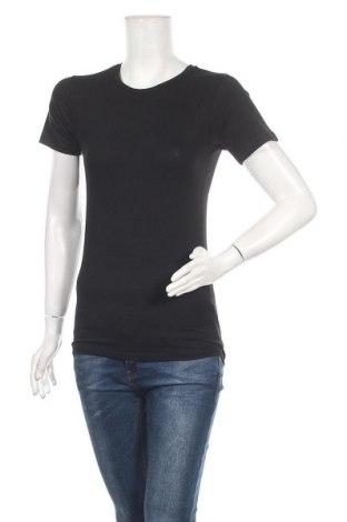 Γυναικείο t-shirt Review, Μέγεθος XS, Χρώμα Μαύρο, 95% βαμβάκι, 5% ελαστάνη, Τιμή 7,22€