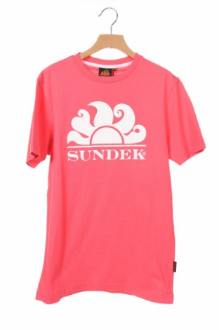 Γυναικείο t-shirt Sundek, Μέγεθος XS, Χρώμα Ρόζ , Βαμβάκι, Τιμή 8,42€