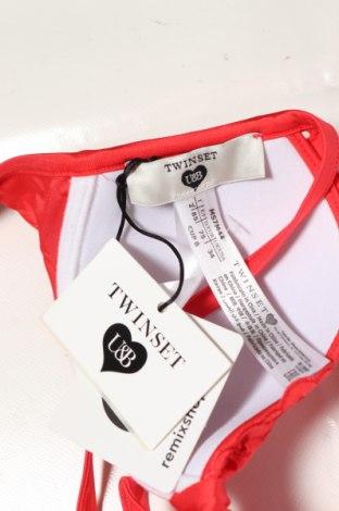 Дамски бански TWINSET, Размер S, Цвят Червен, 87% полиамид, 13% еластан, Цена 14,70лв.