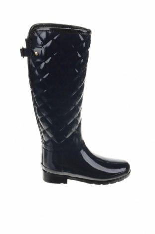 Γυναικείες μπότες Hunter, Μέγεθος 36, Χρώμα Μπλέ, Δερματίνη, Τιμή 75,34€