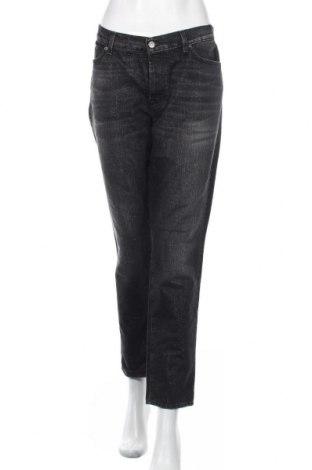 Дамски дънки 7 For All Mankind, Размер XL, Цвят Черен, 65% памук, 23% вискоза, 12% други тъкани, Цена 28,01лв.
