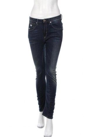 Дамски дънки G-Star Raw, Размер S, Цвят Син, 99% памук, 1% еластан, Цена 33,27лв.