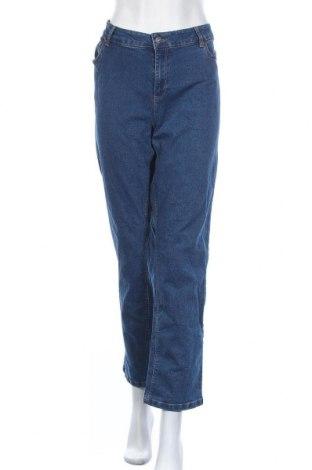 Дамски дънки Laura Torelli, Размер XXL, Цвят Син, 73% памук, 25% полиестер, 2% еластан, Цена 25,20лв.