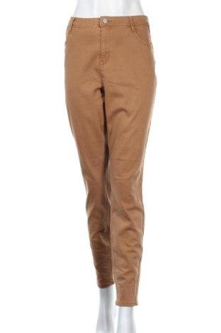 Дамски дънки Yessica, Размер XL, Цвят Кафяв, 65% памук, 32% полиестер, 3% еластан, Цена 24,15лв.