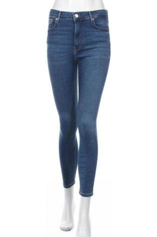 Дамски дънки Zara, Размер M, Цвят Син, 92% памук, 6% полиестер, 2% еластан, Цена 35,70лв.